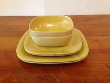 Vintage GHP Melmac Melamine Dinner Set 18 Color Bowls Plates Green Pink Yellow