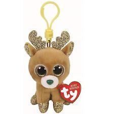 Ty Beanie Babies 35216 Boos Glitzy the Christmas Reindeer Boo Key Clip