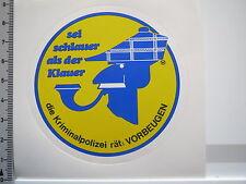 Aufkleber Sticker Kriminalpolizei - vorbeugen - Knatterton - Klauer (5518)