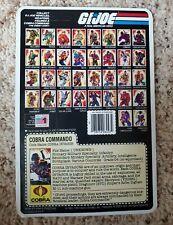 1985 GI JOE Snake Eyes Cobra Invasor Full Uncut Cardback File Card