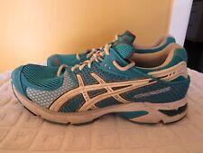 ASICS GEL OS TRAINER Women's Shoes Aqua Blue/White In EUC SIZE US 8.5 EUR 40