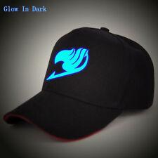 Glow In Dark Anime Fairy Tail Guild Mark Baseball Cap Snapback Golf Sun Hat Gift