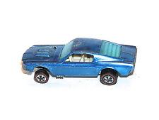 1968 Hot Wheels Redline Custom Mustang RARE BLUE LOUVERED BACK WINDOW COOL FILL!