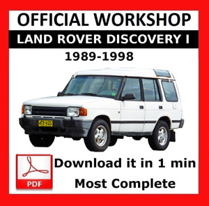 OFFICIAL WORKSHOP Manual Repair Land Rover Discovery I 1989 - 1998