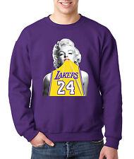 New Way 412 - Crewneck Marilyn Monroe Lakers 24 Kobe Bryant Gold Jersey