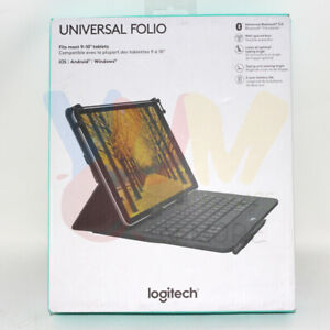 Logitech Universal Folio with Integrated Bluetooth 3.0 Keyboard for 9-10""