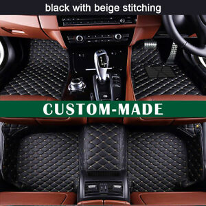 Car Floor Mats for Fiat 500 Hatchback 2011-2012 Custom-Fit All Weather Car Mats