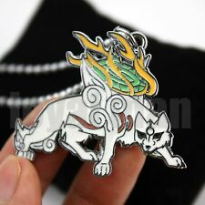 Okami Necklace Den Deluxe Chibiterasu Wolf Dog Pendant Rare Gift Hard to Find