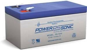 POWER-SONIC PS1230 12V 3.4Ah SLA BATTERY RECHARGEABLE LEAD ACID BATTERY WARRANTY