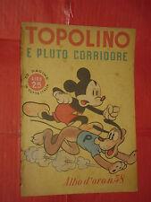 ALBO ORO N° 38 -lg-originale 1946-DISNEY MONDADORI-topolino e pluto corridore