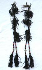 OLD RARE BEAUTIFUL UZBEK DECORATION FOR WOMEN'S HAIR - 2 PIECES