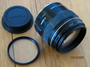CANON EF 85mm f/1.8 USM Prime Lens - EXCELLENT condition with UV Filter