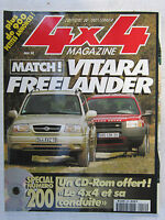 4X4 MAGAZINE N° 200 /VITARA VS FREELANDER/ PATROL GR 2.8 TDI SE court/ PAJERO