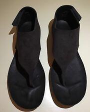 "NWB Pedro Garcia ""Jackie"" Chocolate Suede Velcro Sandals Size 40"