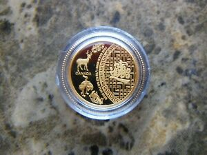 2014 Proof $5 Five Blessings 1/10oz .9999 gold Canada coin