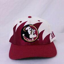 Vintage Florida State Seminoles Logo Athletic Sharktooth Snapback Hat 90s Splash