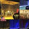 US LED Fairy String Net Mesh Curtain Lights Xmas Outdoor Home Waterproof US Plug