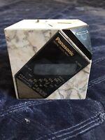 Panasonic RC-60 Marble Cube Digital Alarm Clock AM/FM Radio Tested Great Sound