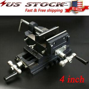 "4"" Cross Slide Vise Drill Press Heavy Duty Metal Milling 2 Way X-Y Clamp Machine"