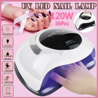 SUN 120W Nail Lamp UV LED Light Professional Dryer Gel Hardening [EU Plug] +A
