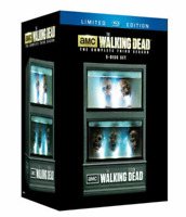 The Walking Dead Season 3 Blu-ray Box Set Limited Edition Zombie Head Fish Tank