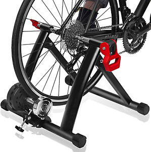 DRMOIS Bike Trainer Stand – Portable Stainless Steel Indoor Exercise Bicycle Tra