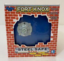 Tim Mee Toy Steel Fort Knox Safe Piggy Bank Slotted Drop Open Combination Door