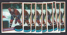 Lot of 10 1980-81 Topps #246 Yvon Lambert Montreal Canadiens Hockey Card NM-MT
