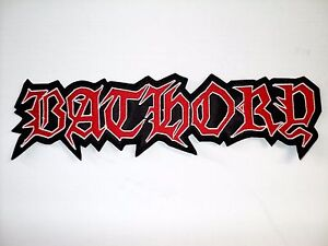 BATHORY RED AND WHITE LOGO EMBROIDERED BACK PATCH