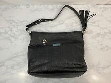 Bella Russo Black Designer Tote Bag Handbag Faux Leather Shoulder Purse SH