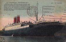 Postcard Ship Le Transatlantique Rochambeau
