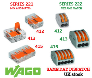 WAGO SERIES 221/222 Electrical Connectors Wire Block Clamp Terminal Cable 2,3,5