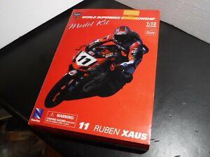 Newray 1/12 Scale 2003 Ducati 999 World Superbike WSB Ruben Xaus Die-cast Kit