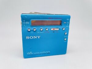MD2018 working  SONY PORTABLE MINIDISC RECORDER MZ-R900  Blue