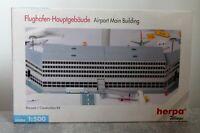 Herpa Wings 519625 1:500 Flughafen Hauptgebäude sehr guter Zustand mit OVP