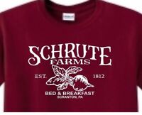 Schrute Farms t shirt Paper Co Inc Scranton PA The Office Dwight  Mens adult USA
