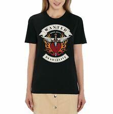 Official Bon Jovi Dead or Alive Ladies Black T-Shirt