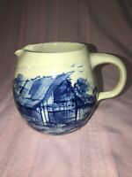 Casey Pottery Hand-Turned Stoneware Pitcher - HP Cobalt Blue Barn - Marshall TX