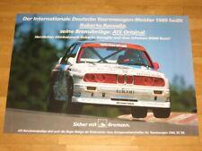 BMW M3 E30 POSTER 25 - ATE BREMSEN ROBERTO RAVAGLIA / ORIGINAL VINTAGE in MINT