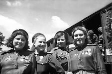 WW2 Photo Russian Female Snipers  WWII Russia Germany World War Two Soviet Army