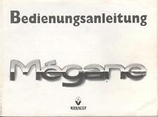 RENAULT MEGANE  Betriebsanleitung 1998 Bedienungsanleitung Handbuch Bordbuch BA