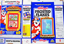 1989 Frosted Flakes Hologram Basketball Cereal Box unused factory Flat shm264