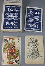 JEU DE CARTES PUBLICITAIRE STANDARD 1 x 53 PIECES , PRODUITS D' ENTRETIEN BIRIBI
