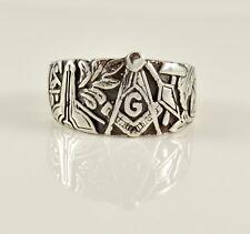 Vintage Inspired Masonic Ring - SZ 10.5 - Sterling 925 Silver - Master Mason USA