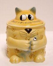 Pet Boutique Cat Snack Canister Best Friends Treats Cat Figural Papel Giftwares