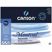 Canson Montval 300gsm watercolour practice paper Block including 12 sheets, size