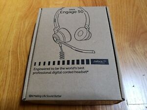 Brand New Jabra Engage 50 Stereo Wired Headset, with USB-C