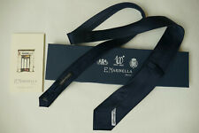 Marinella Napoli Krawatte-Tie, Silk Satin, Midnight Blue, NEW!