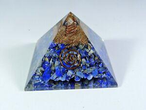 Lapis Lazuli Orgone Pyramid Crystal Pyramid Healing Metaphysical Gemstone