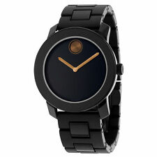 Movado Bold Black Polyurethane & Stainless Steel Bracelet Men's Watch 3600315